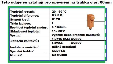 Příložní termostat